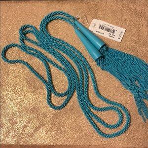 Kendra Scott matte aqua phara necklace